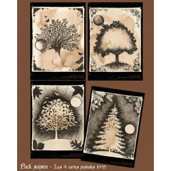 4 Carte Postale - Pack Saisons