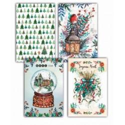 4 cartes postales - Pack Noël