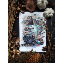 Carte Postale - Magicien