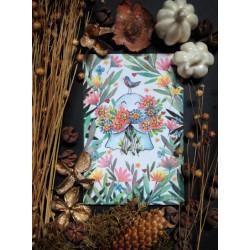 Carte Postale - Fantôme fleurs